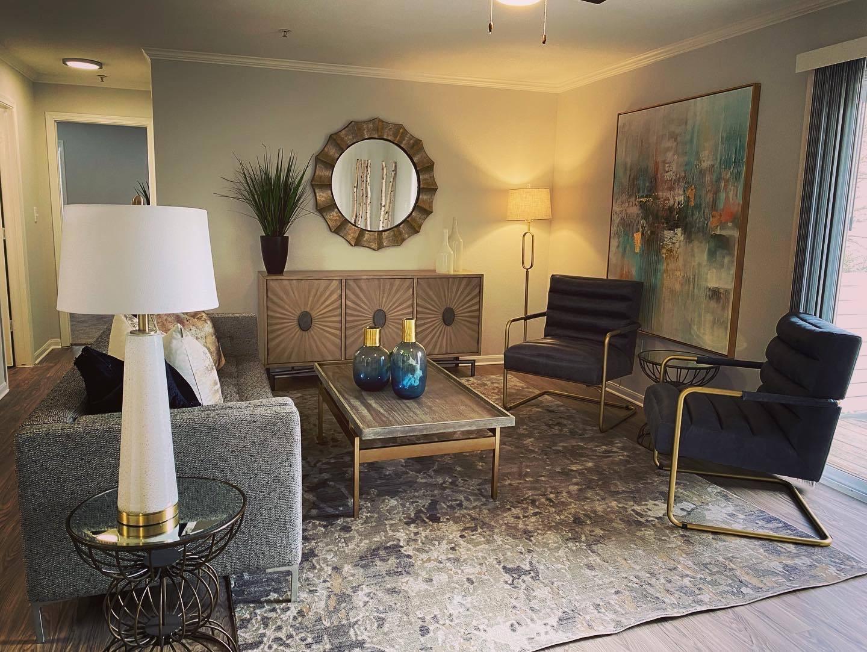 Remodeled Model Livingroom at Parkwood Terrace, Round Rock, TX