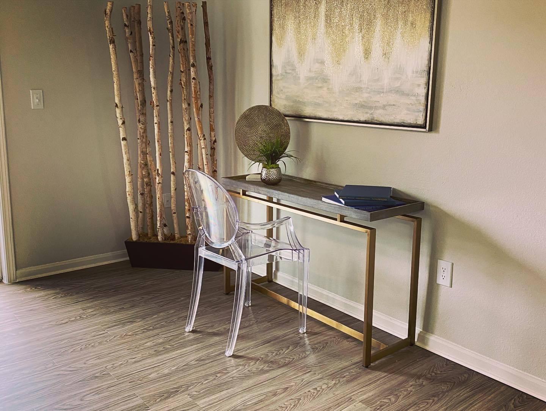 Remodeled Model desk area at Parkwood Terrace, Round Rock, Texas
