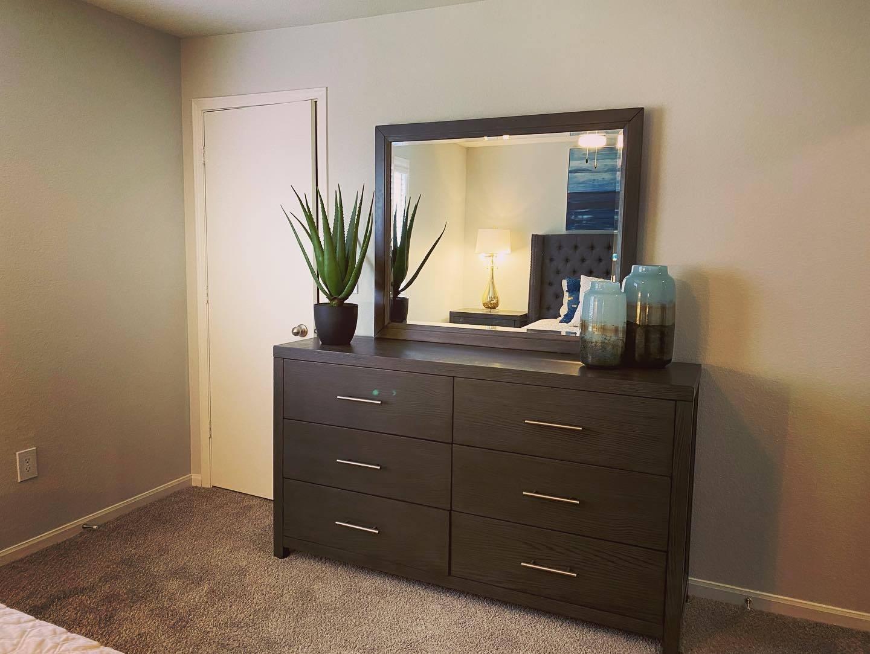 Remodeled Model dresser at Parkwood Terrace, Round Rock