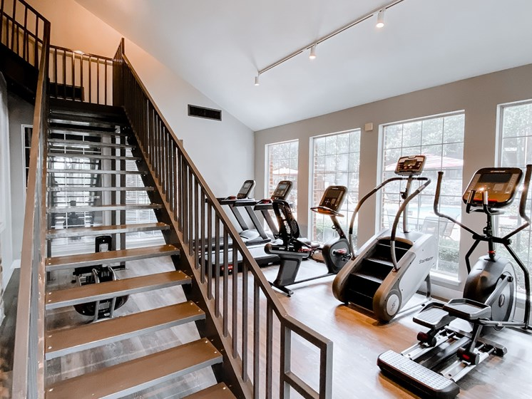 our fitness center with equipment
