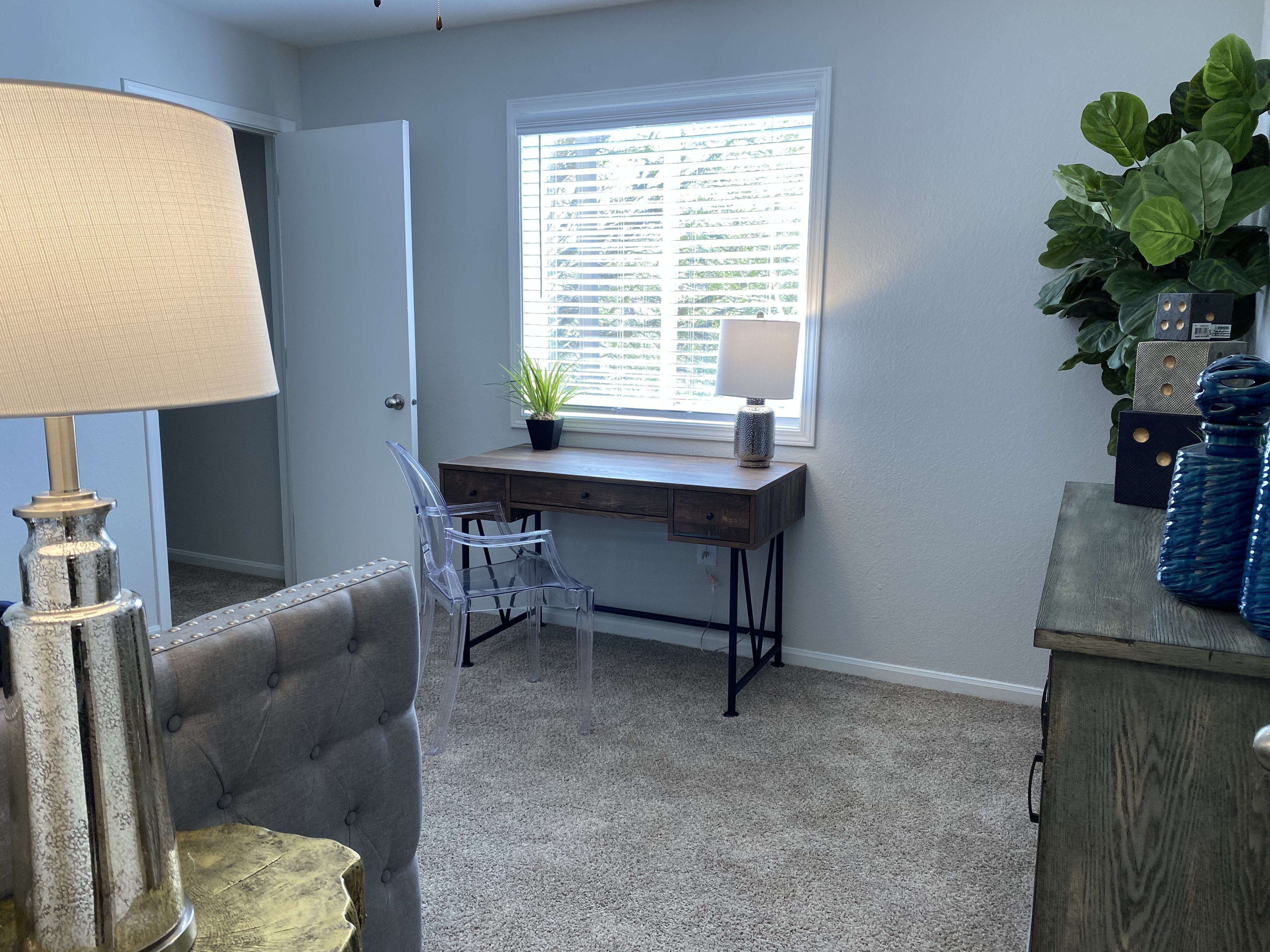 Remodeled guest bedroom at Parkwood Terrace, Texas