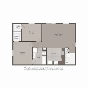 B1 Floor Plan at Parkwood Terrace, Round Rock, 78664