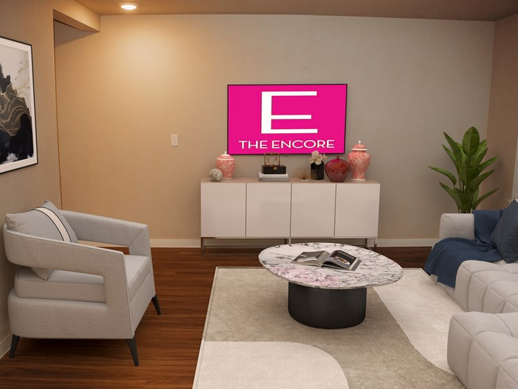 The Encore Apartments Living Room