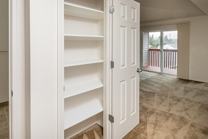 Closet with shelves