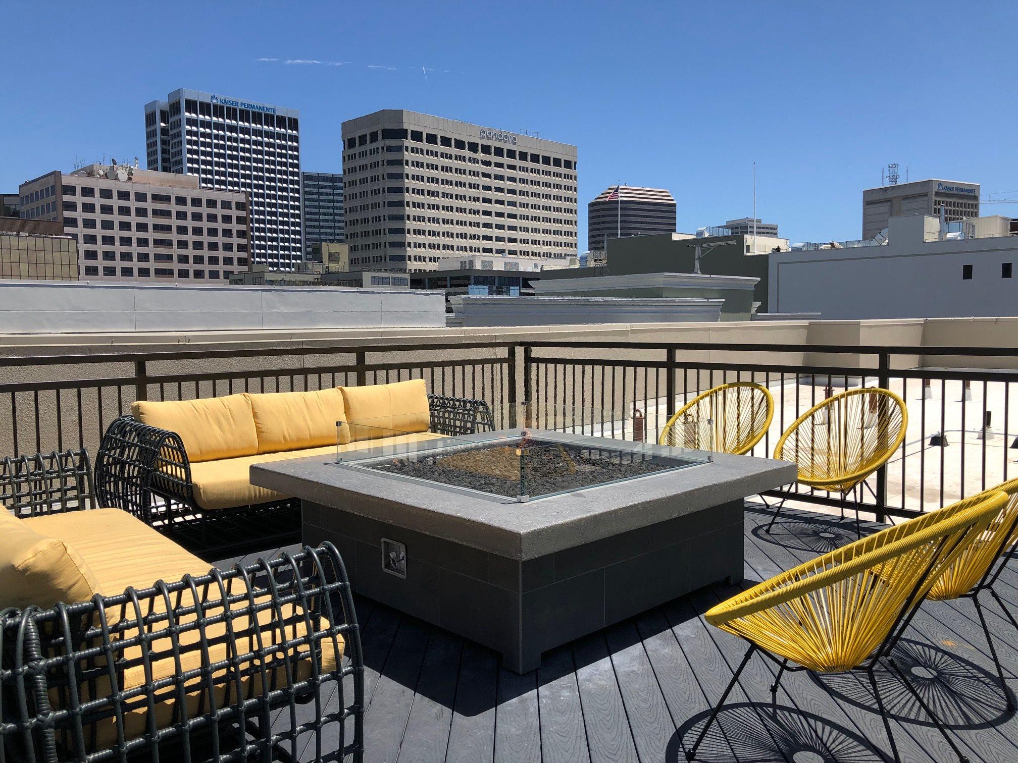 Fire pit l Rasa Apartments in Oakland CA
