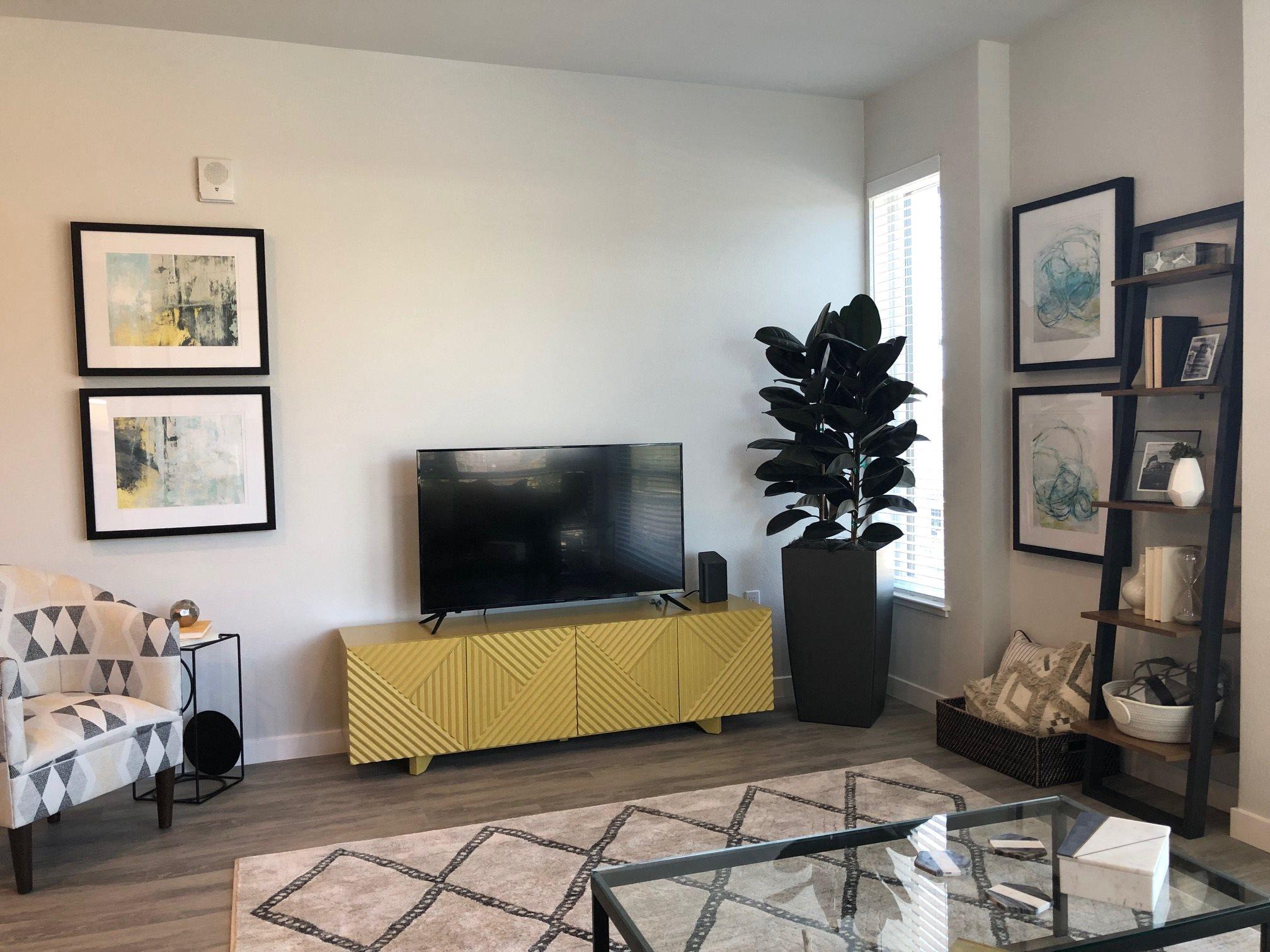 Living Room l Rasa Apartments in Oakland CA