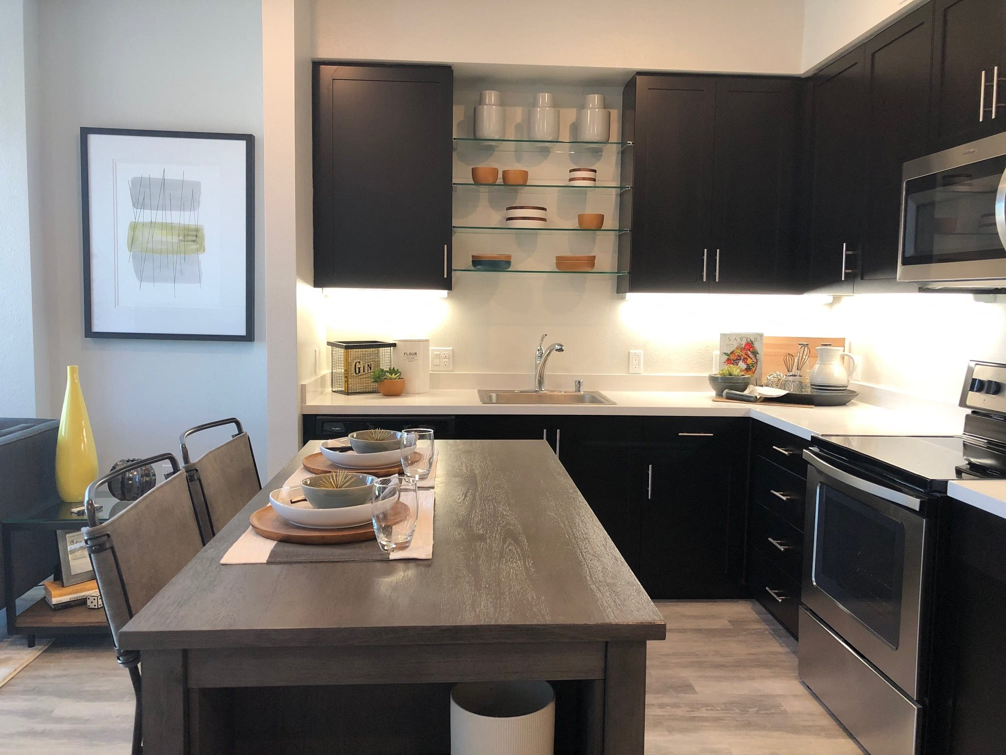 Kitchen l Rasa Apartments in Oakland CA