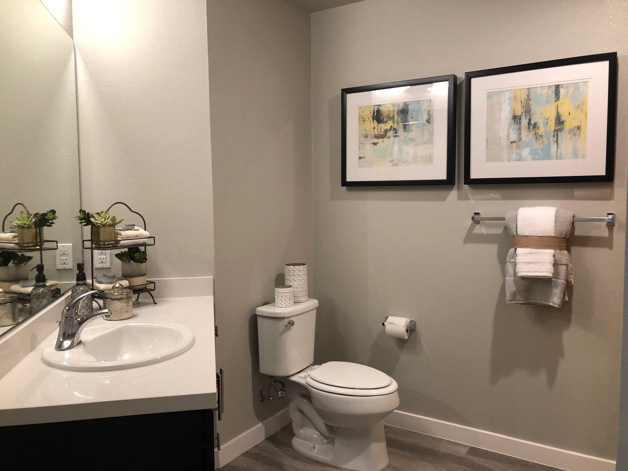 Bathroom l Rasa Apartments in Oakland CA