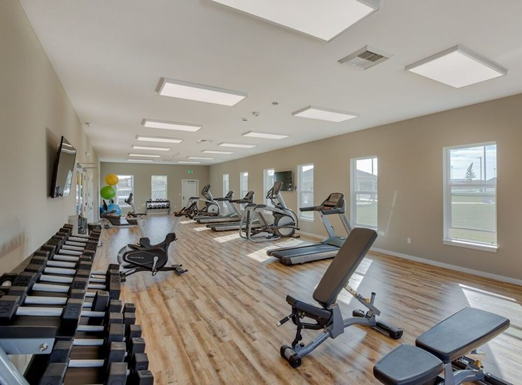 Fitness center with weights and cardio
