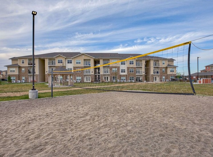 Volley Ball court with sand