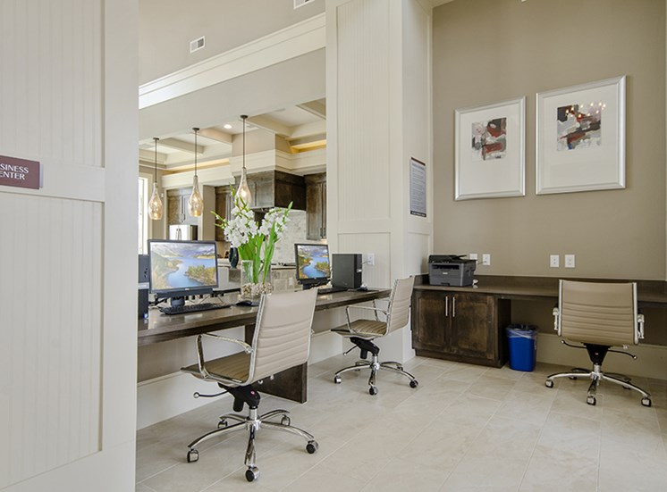 Business center with computer