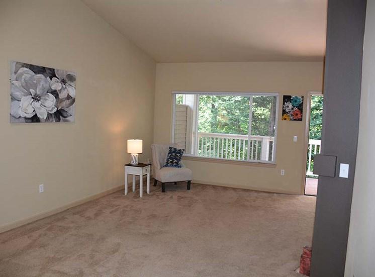 Living room with window and front door
