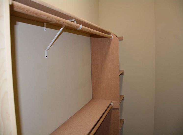 Closet with shelf