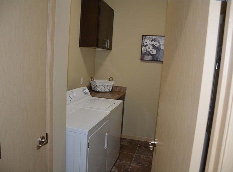 Washer and Dryer in laundry area