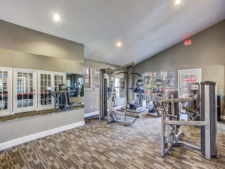 Apartments in Austin-The Vibe Apartments Gym with Machines and Equipment
