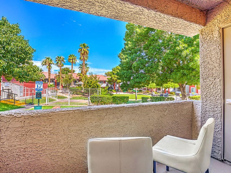 Las Vegas, NV Apartments - View from the Outdoor Patio of the Resident Dog Park and Lush Landscaping