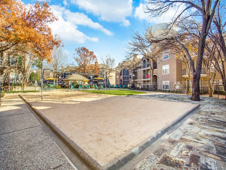 Sand Volleyball Court at The Gio, Plano, 75074