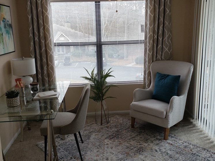 Expansive Windows & Lighted Ceiling Fan at Brook Valley Apartments, Douglasville, GA