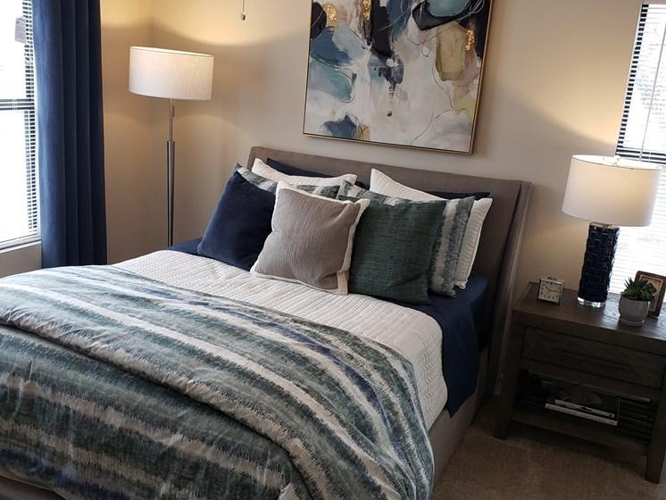 Beige Carpet In Bedroom at Brook Valley Apartments, Douglasville, 30135