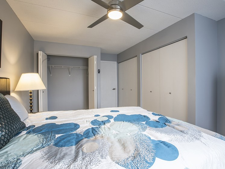 bedroom with adjacent closet