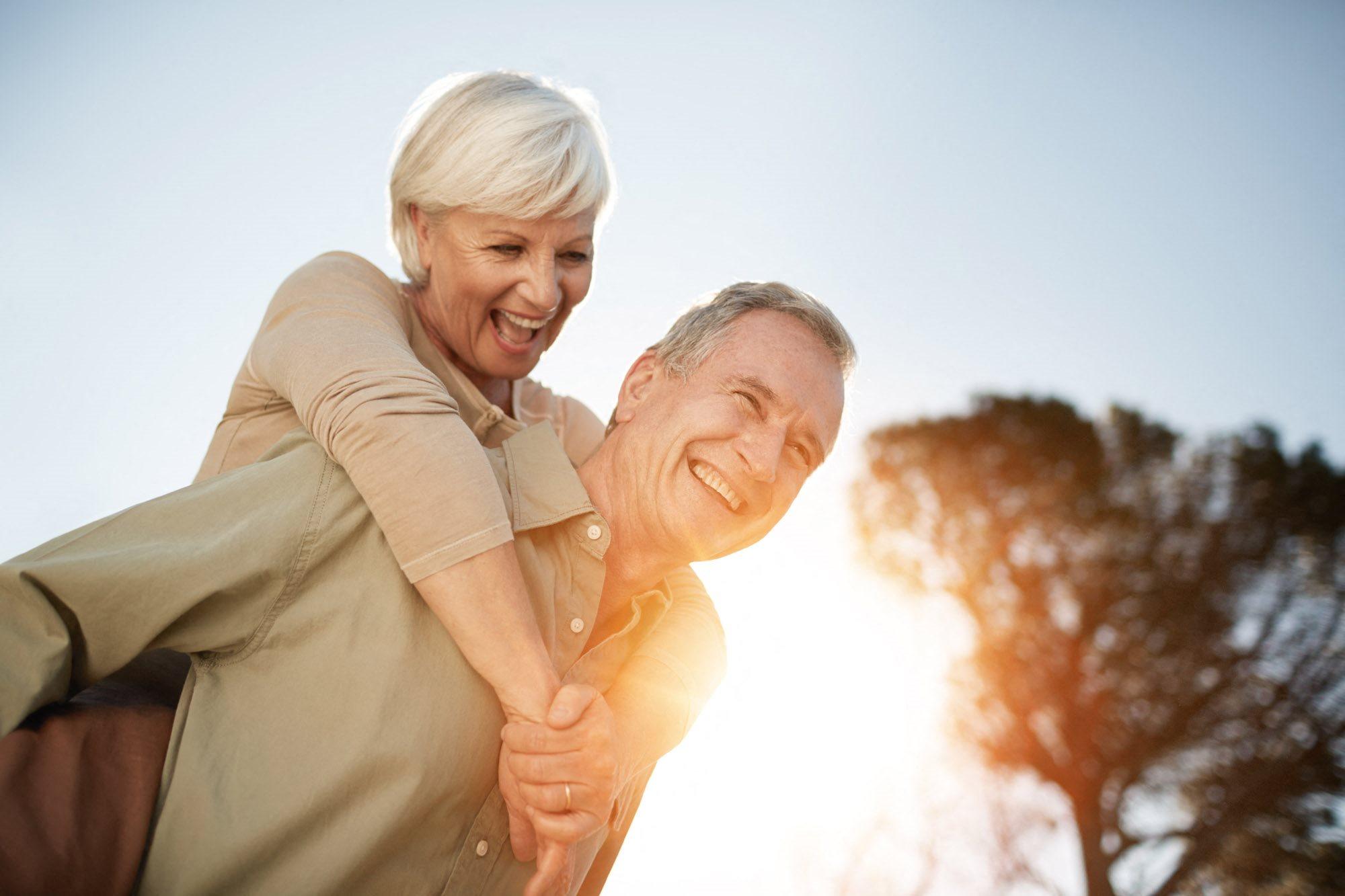 stock image- happy senior couple