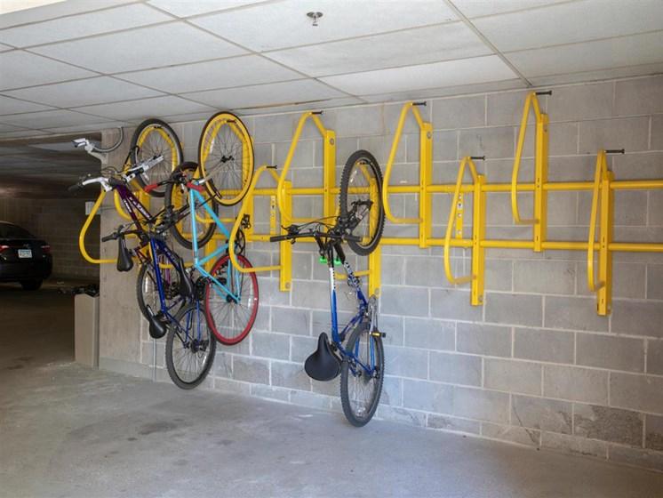 convenient bike racks