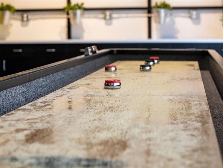 shuffleboard in clubhouse