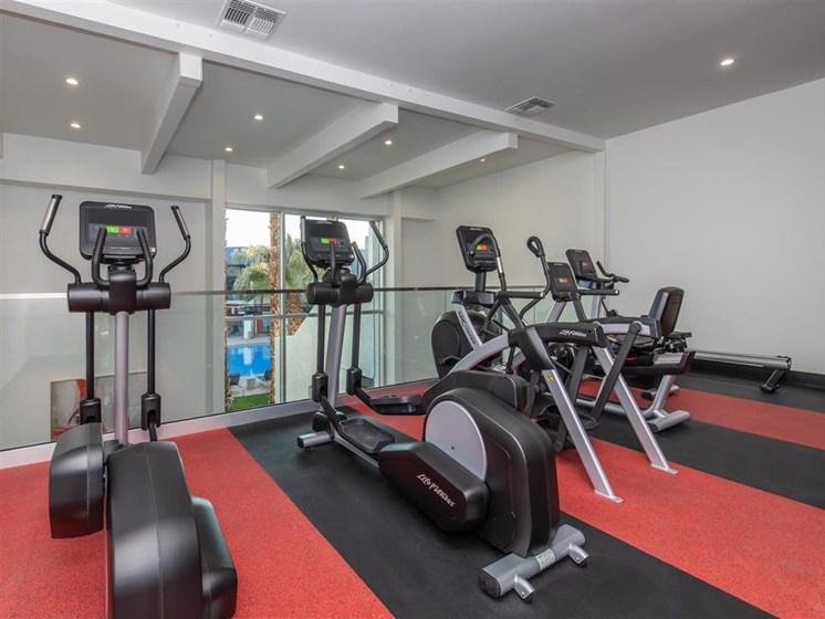 State-of-the-art fitness center and cardio equipment