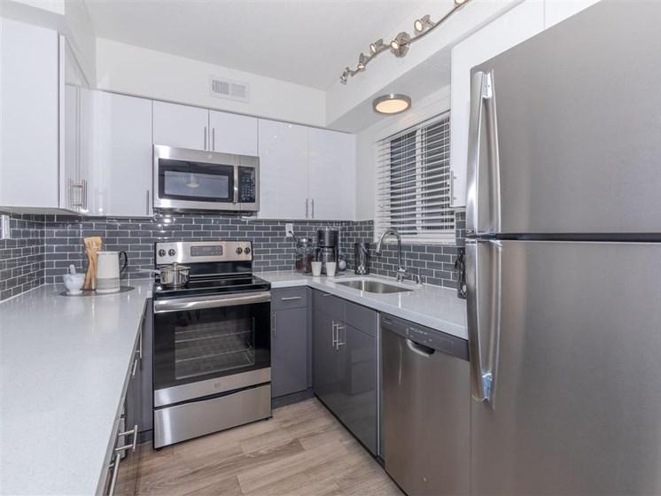 Renovated kitchens with subway tile backsplash