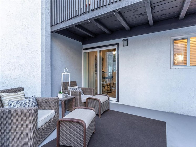 Large outdoor patios and balconies
