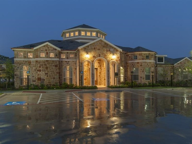 Outside Of Clubhouse/Parking Lot at Parc Woodland, Conroe, Texas