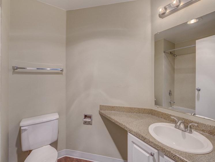 Designer Granite Countertops in all Bathrooms