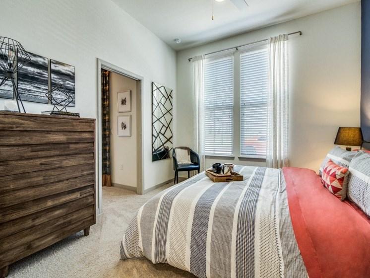 Luxury One-Bedroom Apartments in Rowlett, TX - Harmony Luxury Apartments Bedroom with Large Windows