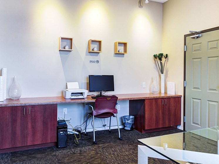 business center at Uptown Lake Apartments, Minneapolis