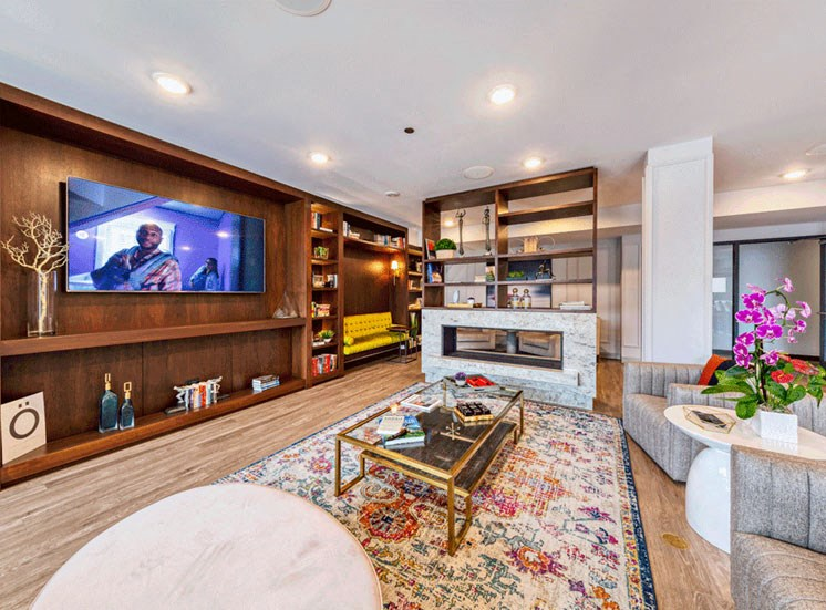 Luxurious Living Room Area at at Noca Blu, Chicago, IL