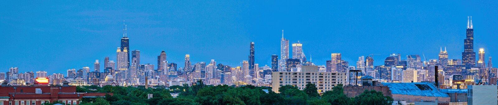 Panoramic View Of City at Noca Blu, Illinois