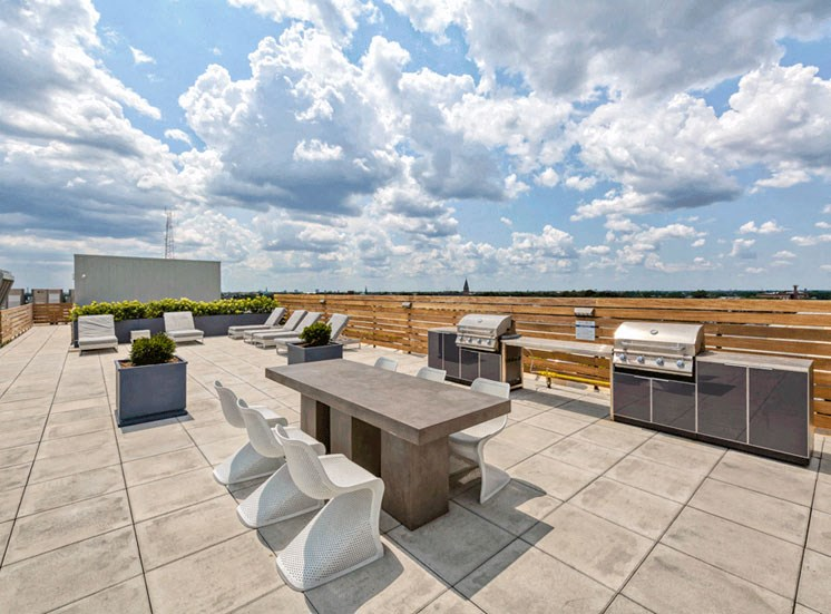 Rooftop Sitting Area at Noca Blu, Chicago, 60647