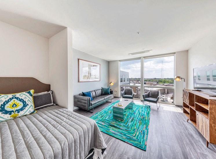 Interior Bedroom Design at Noca Blu, Chicago, 60647