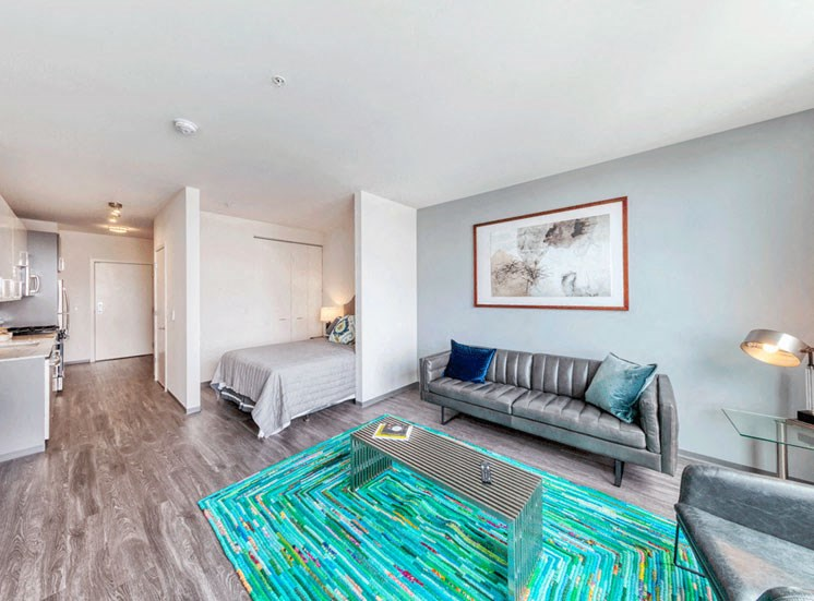 Living Room Area at Noca Blu, Chicago, IL
