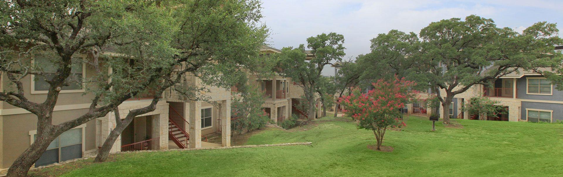 Beautifully-Landscaped Grounds at The Redland,18979 Redland Road San Antonio, TX 78259