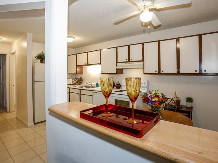 Open Kitchen in Fairborn Apartment