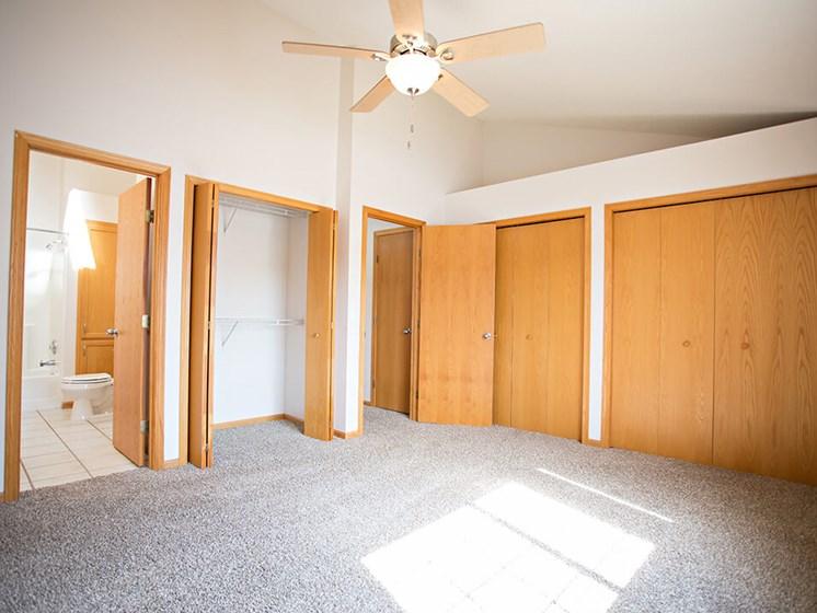 master bedroom at Crystal bay townhomes