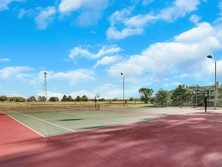 Apartments in Wichita Tennis Court