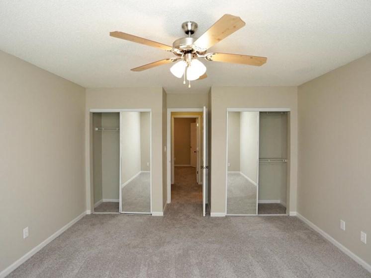 spacious closets at Topeka Ks townhomes
