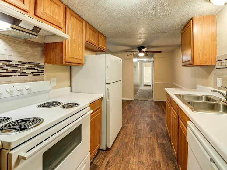apartment kitchen in Derby, KS