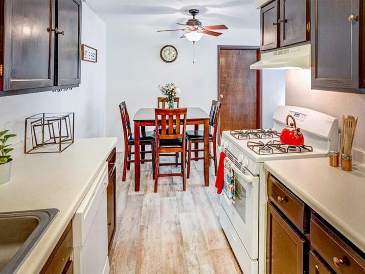 kitchen at Stone Grove apartments