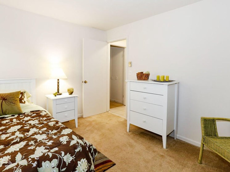 second bedroom at apartment community