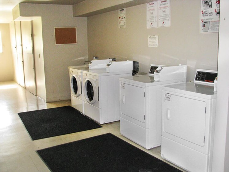 laundry center at apartment complex