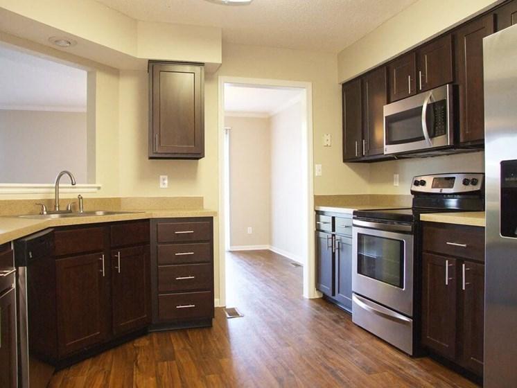 large kitchens at Mariposa Townhomes