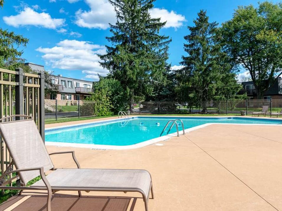 outdoor pool at apartment complex